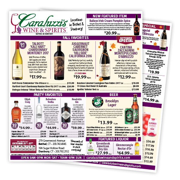 Caraluzzi's Wine and Spirits Weekly Flyer